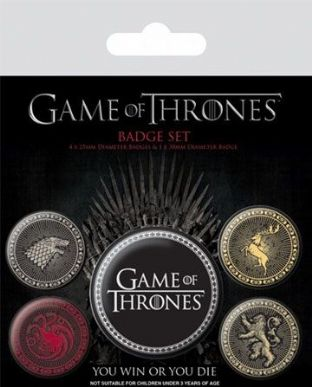 Game Of Thrones 'Great Houses' Badge Pack